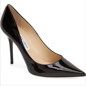 Jimmy Choo Abel Patent Leather Point Toe Pumps 36